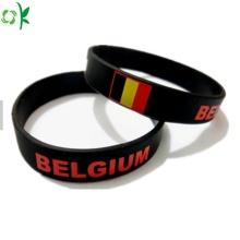 Custom Silicone Bracelet High Quality Black Wrist Strap
