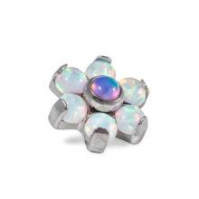 Opal Flower G23 Titanium intern Gewinde Dermal Anchor Top Opal Flower G23 Titanium intern Gewinde Dermal Anchor Top