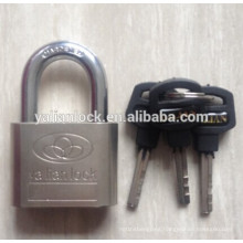 High Security Electroplating Silver Small Cute plastic handle key Nickle Plated Iron Padlock