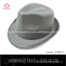 Mens Grau Fedora Hut billig Filz Hüte Werbe-Design