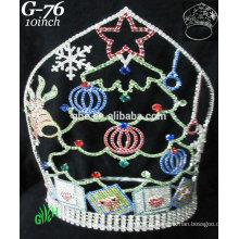 Novos designs rhinestone royal accessories wholesale tiara and Christmas crown