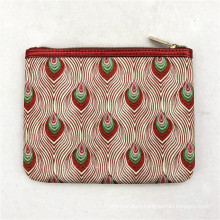 Fashion Trendly Makeup Brushes Bag For Women Travel Packaging Bag Portable Flat Peacork Cosmetic Bag
