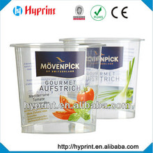 2015 hot sale custom IML In Mold Label for fruit container