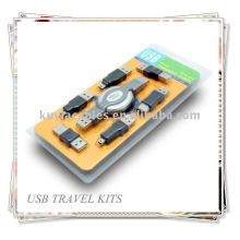 USB vers IEEE 1394 Firewire Travel Kit Cable 6 Adapters