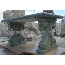 Banco de mármol de piedra del jardín del granito de la antigüedad para los muebles del jardín (QTC069)