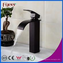 Fyeer Black Mixer Tap Waterfall Basin Faucet (QH0517HB)