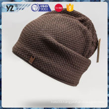 Factory supply simple design men stripped knit hat made in china