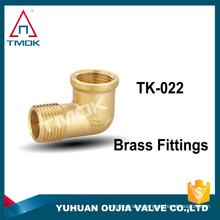 female BSP thread with flange ends nature brass color 90 degree open to quick close fittings elbow lead free pipe