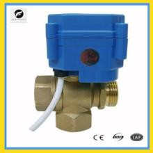 """Válvula de control eléctrica de 3 vías DC12V 24v para agua fría 1/4 """"1/2"""" 3/4 """"1"""" 12v control de baja tensión"""