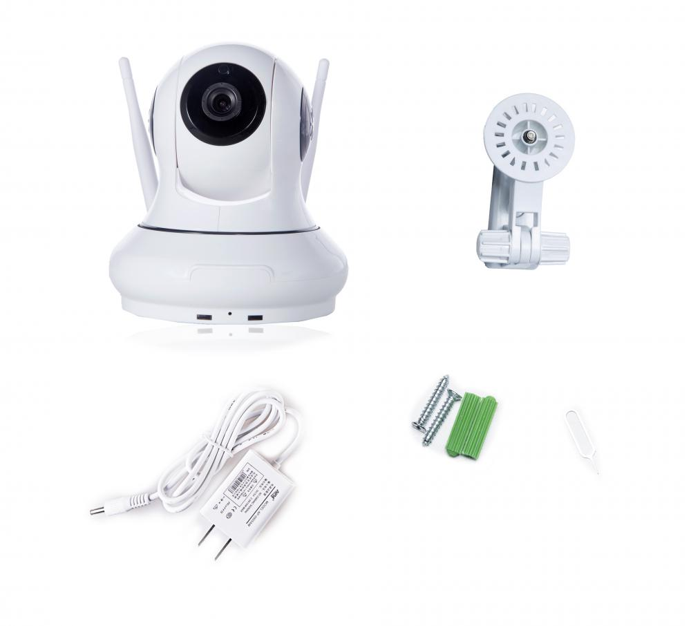 Pan Tilt Wireless Wifi IP Surveillance Camera RJ45 TF Card