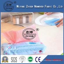 Les tissus non-tissés de Spunlace de lingettes antibactériennes de main libre