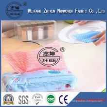 Antibacterial Hand Lint Free Wipes Spunlace Nonwoven Fabrics