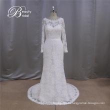 С Длинным Рукавом Аппликация Милая Свадебное Платье