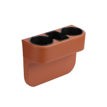 wholesale multifunctional car console box with cup holder leather seat car gap filler organizer