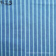 Poplin de algodão tecida de fios tingidos tecidos para vestuário camisas/vestido Rls40-c-3po