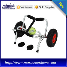 Aluminium collapsible trolley with rubber pad