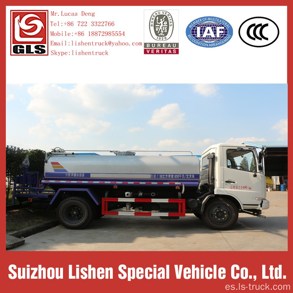 Dongfeng Water Truck 10 toneladas cisterna con Sprinkle
