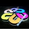 Logo 3D LED Light Box Lettre Sign Plastique