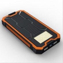 15000mAh Customized Solar Portable/Mobile Power Bank for Travel