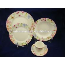 30pcs rodada cerâmica conjunto de louça, porcelana chinesa talheres