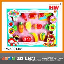 Hot venda de brinquedos de corte de plástico de corte de legumes de corte de brinquedos