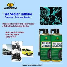 Pistolet de gonflage de pneu Pulvérisateur de réparation de pneu, scellant de pneu et gonfleur 400ml / 500ml Échantillon gratuit