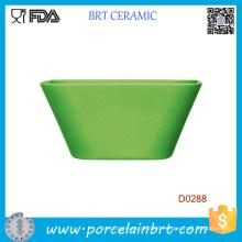 Wholesale Green Square Ceramic Salad Bowl