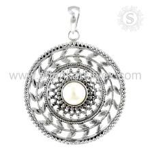Neue bezaubernde Perlen-Edelstein-hängende handgemachte 925 Sterlingsilber-Schmucksachen Jaipur Wholesale on-line-Schmucksachen
