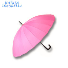 Gifts Promotional with Logo Hotel Hot Selling Customized Cheap Rain Auto Open 24 Ribs Pink Straight Umbrella China Manufacturer