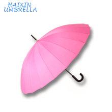 Рекламные подарки с логотипом отеля горячий продавая Подгонянный дешевый дождя Автоматическое открытие 24 ребра прямо зонтик розовый Производитель Китай