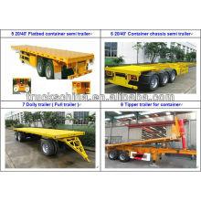 CIMC 3axles 70tons Container Semitrailer Trailer Truck