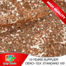 Neue Großhandel Gold Sequins Stoff, Mesh mit Pailletten Stickerei Stoff für Party Kleid, Dekoration, Bankett