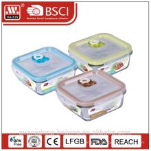 Vakuum Microwavable frische Erhaltung Glasbehälter Essen