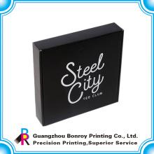 Aduanas cartón impresión color venta caliente negro vestir caja