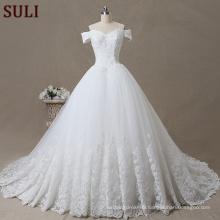 SL-100 Sexy Latest Wedding Dress Lace Flower Beading Bridal Gown Alibaba 2017