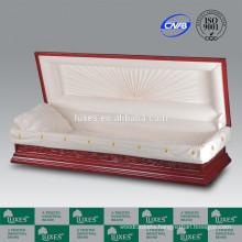 LUXES Chinese Exquisite Carved Casket Bordeaux-Loutes&Crane Caskets & Coffins