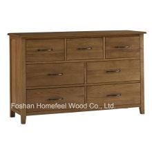 Coffre de rangement en bois antique de 7 tiroirs (HC25)