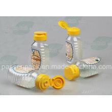 Пластиковая бутылочка с медом для продуктов питания с крышкой из силиконового клапана (PPC-PHB-02)