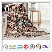 Customized 100% Polyester Leopard imprimé Soft Coral Velvet Fleece Blanket