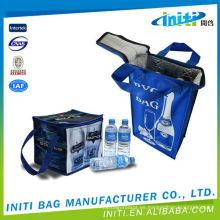 Bolsas no tejidas modificadas para requisitos particulares del refrigerador / bolso al aire libre del refrigerador de la comida campestre