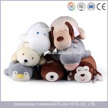 spandex super macio tecido recheado hipopótamo animal brinquedos de pelúcia