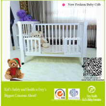 Hot Baby Furniture of Baby Cot with Solid Wood