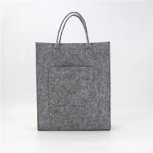 Wholesale Reusable Women Bags Felt Shoulder Bag Tote Felt Handbag Felt Shopping Bag