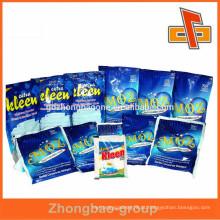 Personalizado impresso atacado produtos de higiene pessoal / produtos de limpeza pacote de saco, saco de detergente para a roupa