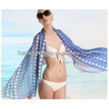 Sarong de playa de seda impresa para el verano de 2014