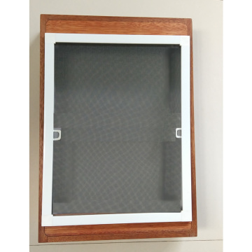 Aluminum screen fixed window with mosquito net