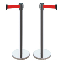 910mm high  iron base stainless steel crowd control barrier with retractable belt