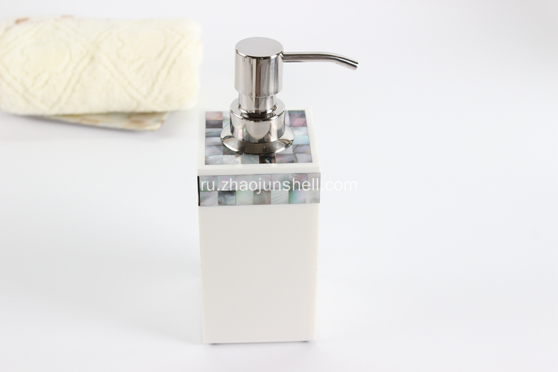 Black Mother of Pearl Resin Soap Pump