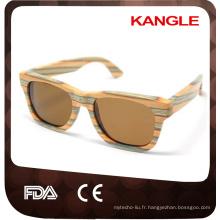 FDA CE Standard Handmade Polarized lunettes de soleil en bois