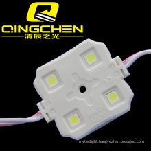Factory Direct Sell 5050 Waterproof 4 LEDs Single Color LED Module White/ Red/ Yellow/ Blue Advertising Project Signs